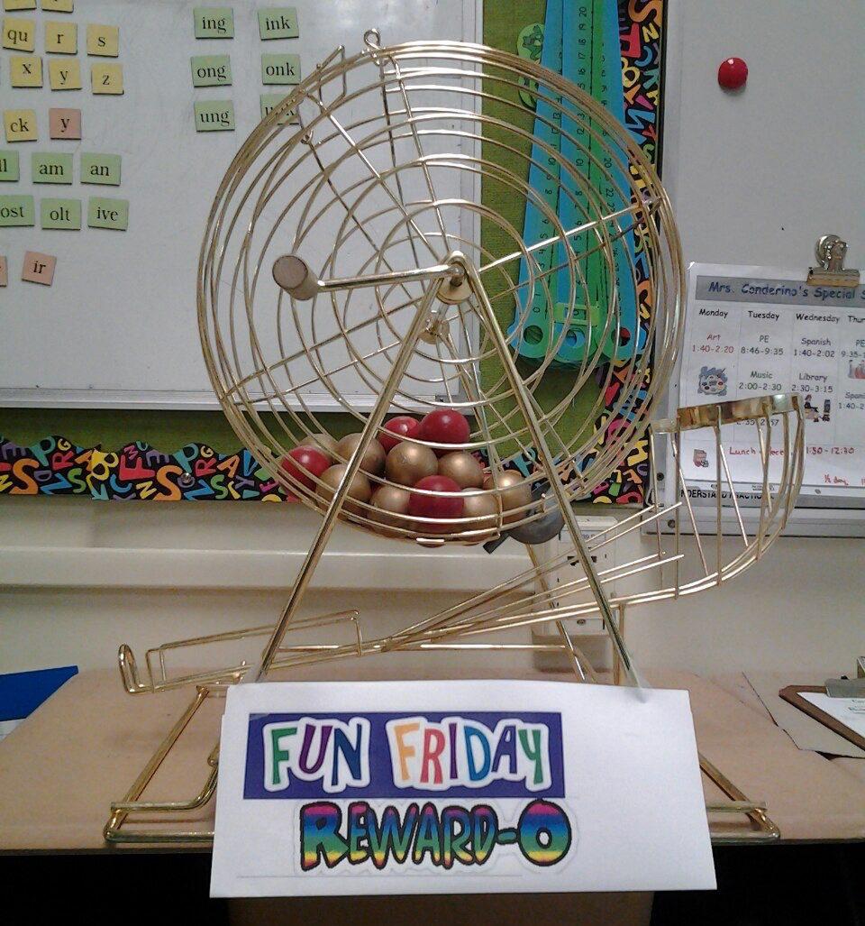 classroom bingo cage