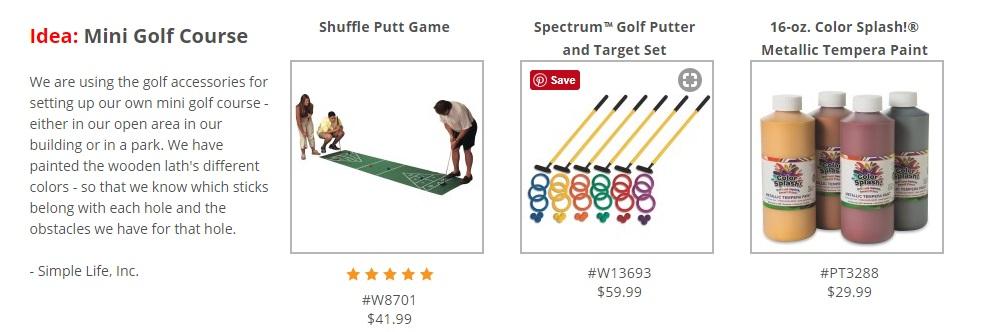 create own mini golf hole