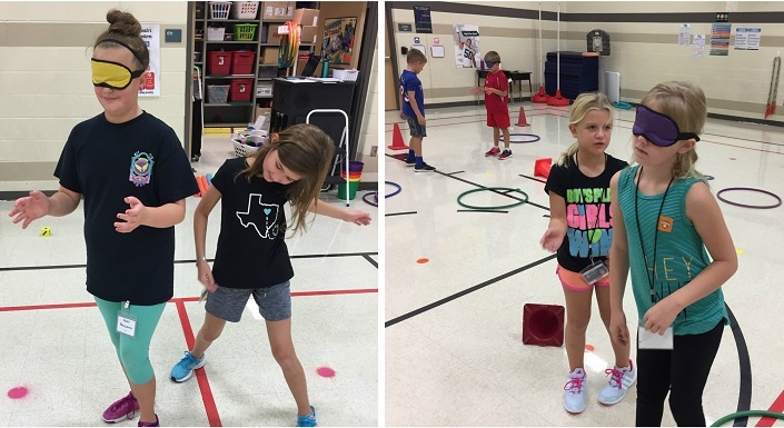 PE blindfold activities