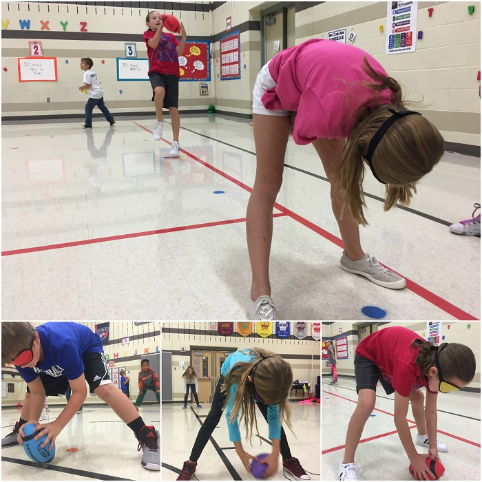 Pe activities blindfold