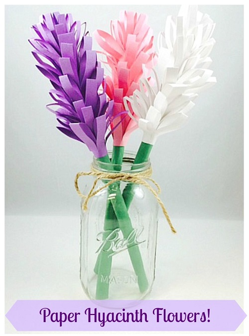 easy paper hyacinth flowers s s blog