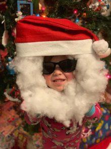 DIY Santa mask for kids