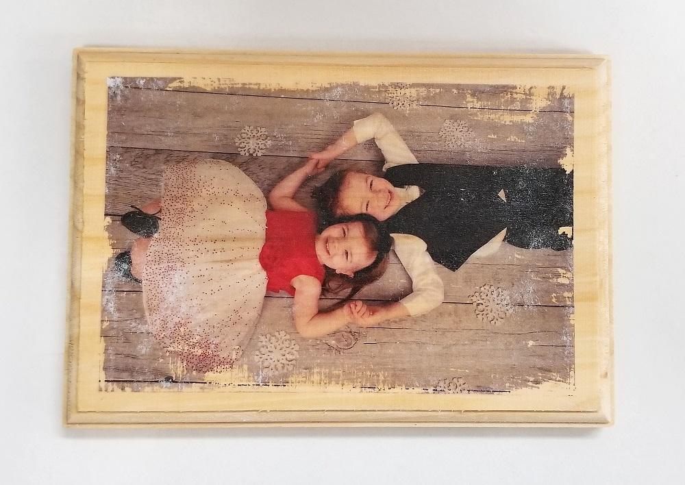 DIY Wood Photo Plaque