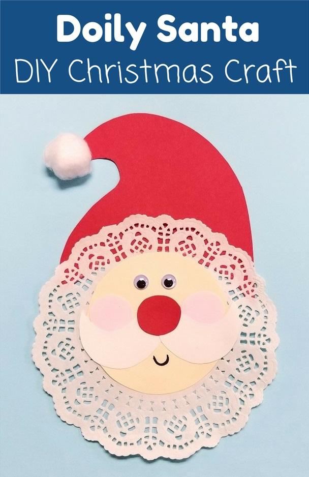 Doily Santa Holiday Craft