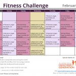 February Printable Fitness Challenge Calendar