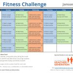 Printable Fitness Challenge Calendar for Kids – Keeping Students Active