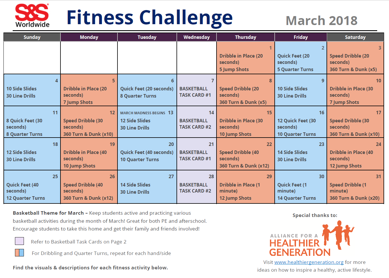 Monthly Fitness Challenges 2018 | Amatfitness co