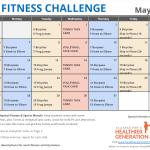 May Printable Fitness Challenge Calendar