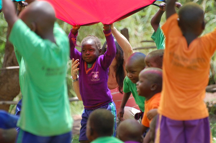 Fitness for Africa parachute