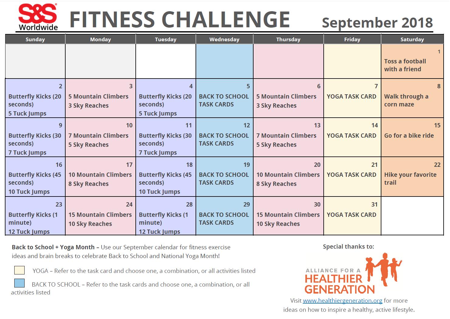 Workout Calendar Template 2018 | Kayaworkout co