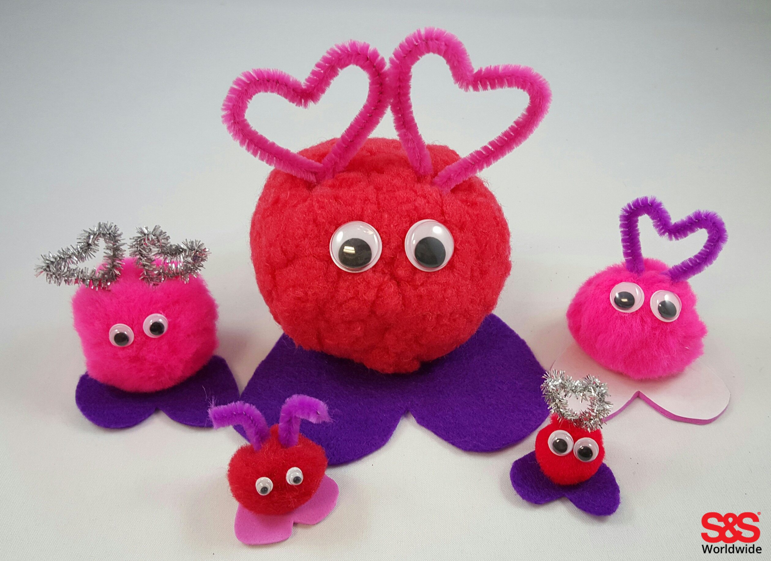 Valentine archives s s blog for What to make with pom poms crafts