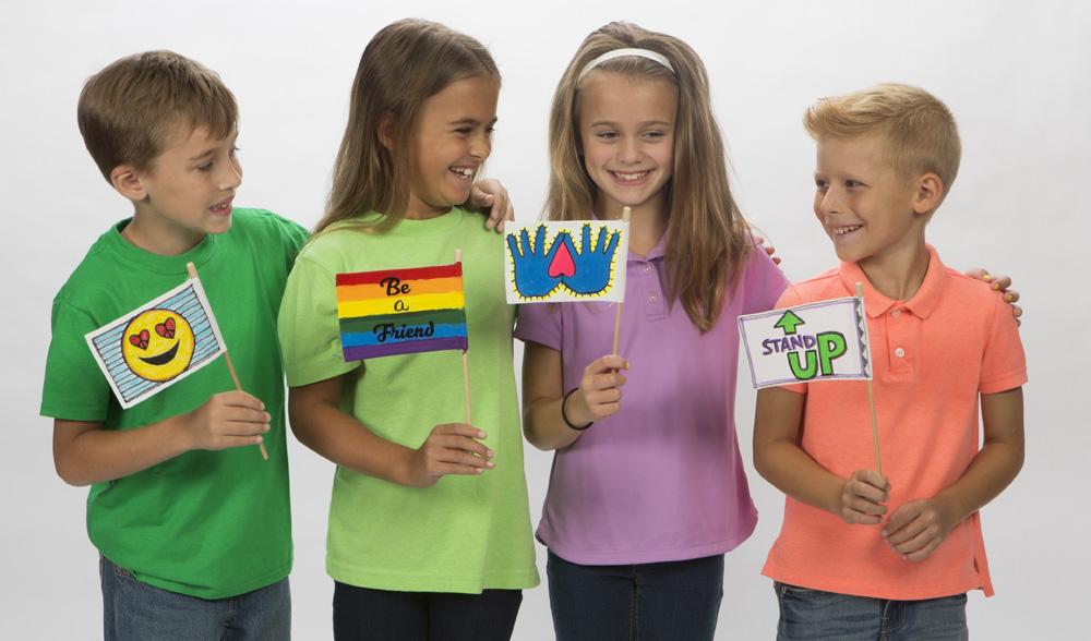 bullying prevention with flags