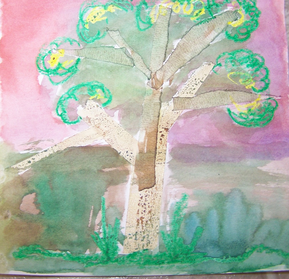 watercolor resist art with writing lesson for students s s blog