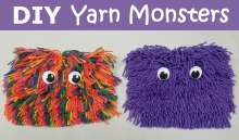 diy yarn monsters craft