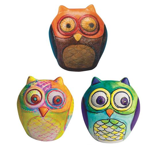 fall thanksgiving owl banks