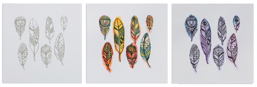 feathers art craft