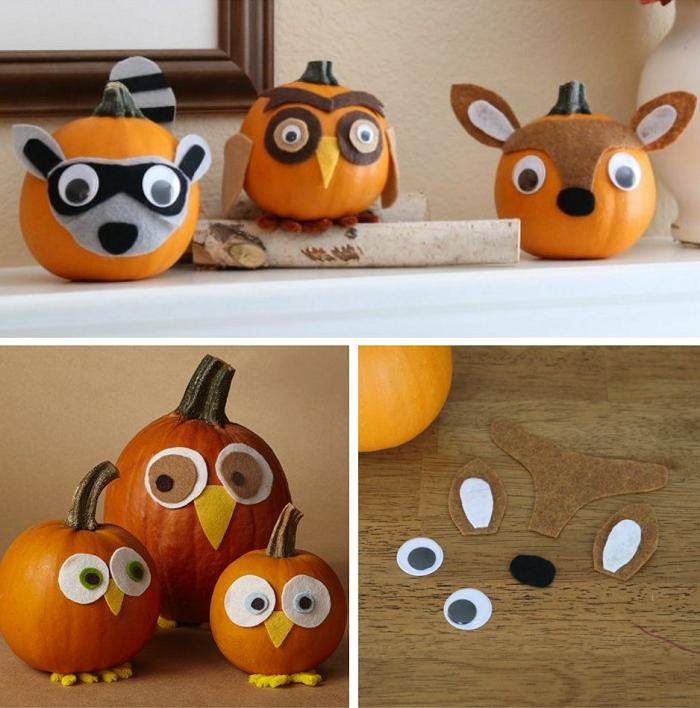 felt character pumpkins