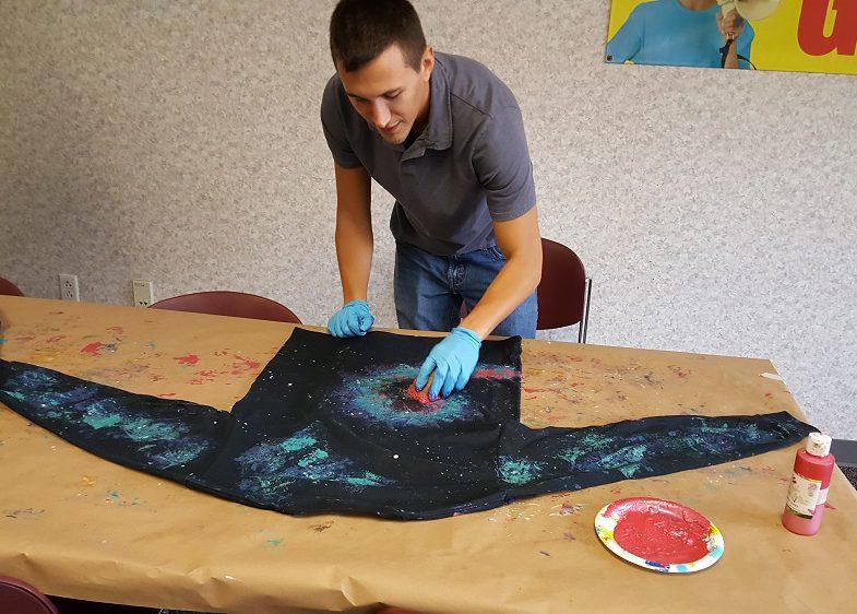 galaxy shirt craft
