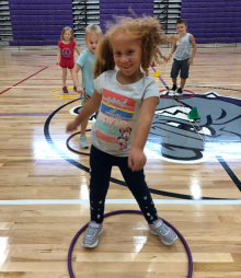 hula hoop PE activity