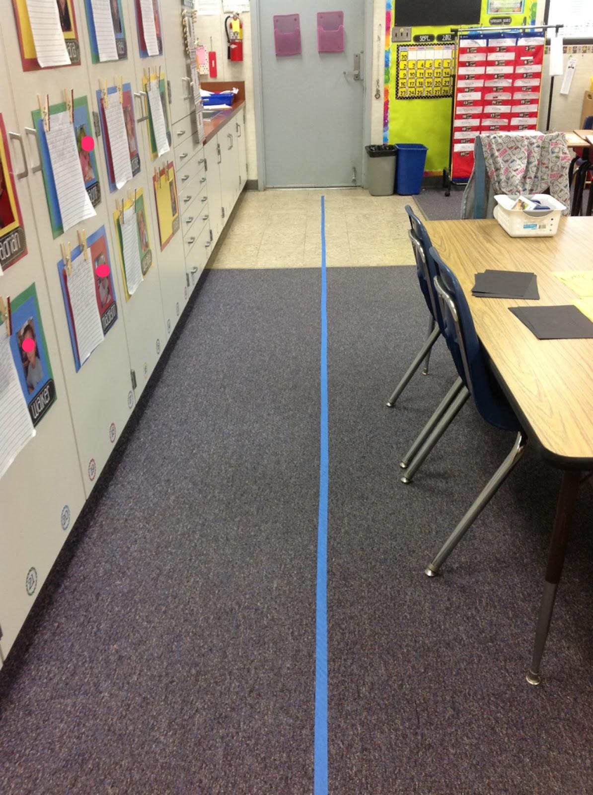 floor tape classroom carpte