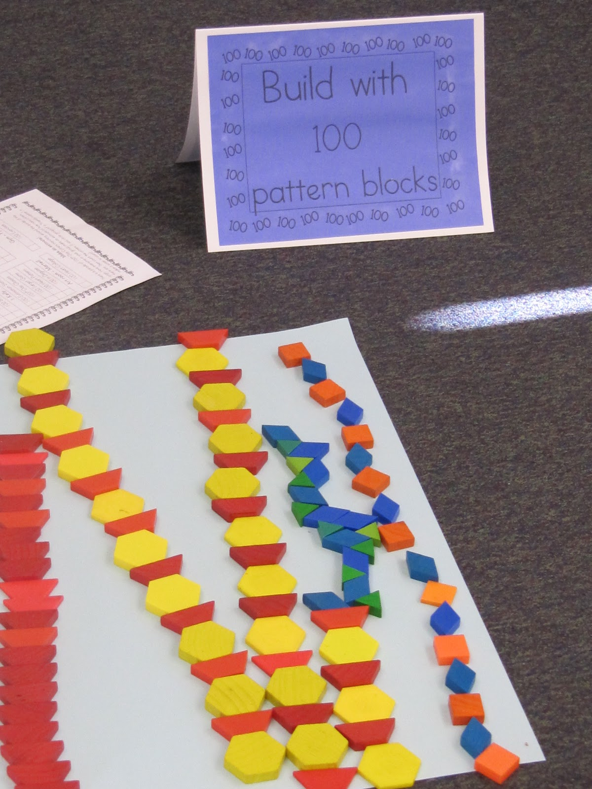 makerspace building stem 100th day activity