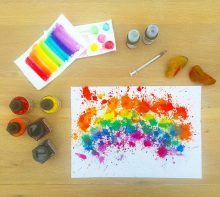 rainbow liquid watercolor craft