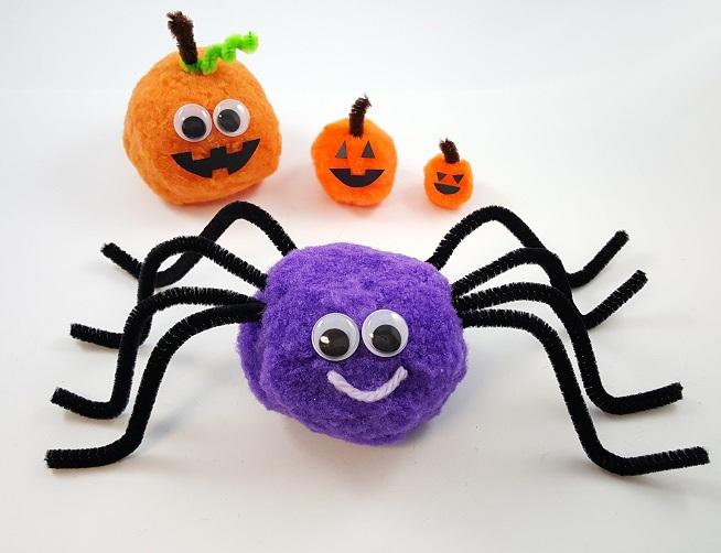 Halloween pom pom crafts