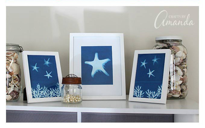 sun print wall art craft