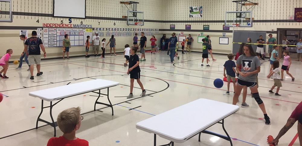 table ball family fitness
