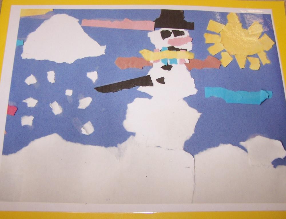 torn paper art lesson