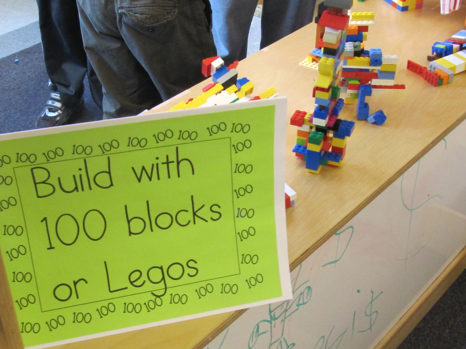 makerspace lego idea 100th day of school