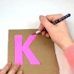 Cardboard Yarn Letter