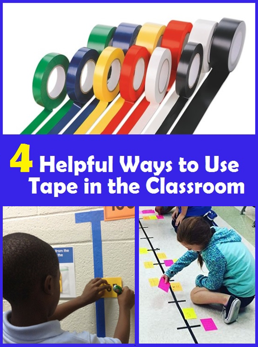 4 ways to use tape in the classroom