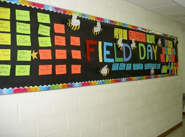 Field Day bulletin board