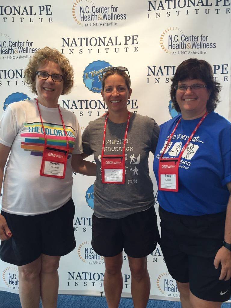 PE Geeks – all geeked out at the National PE Institute