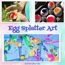 Egg splatter art