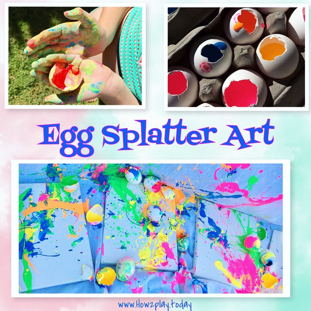 Egg splatter art