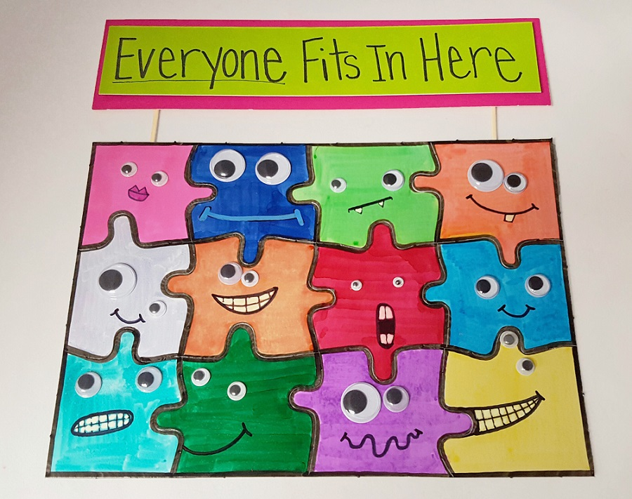 Everyone Fits in Here Puzzle