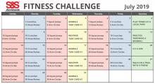 Fitness Challenge Calendar July 2019
