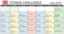Fitness Challenge Calendar June