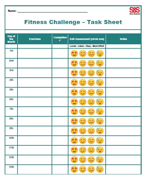Fitness Challenge - Task Sheet