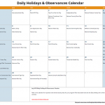 July Daily Holidays & Observances Printable Calendar