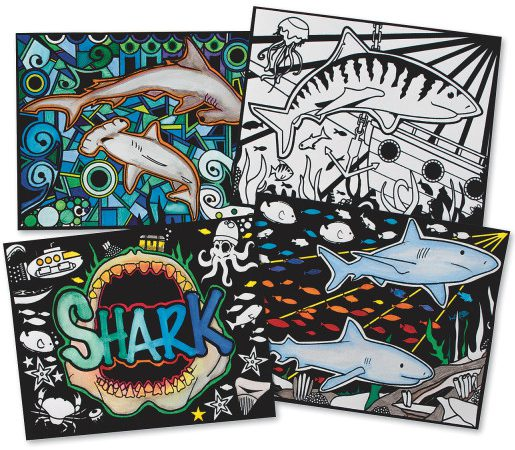 shark craft posters