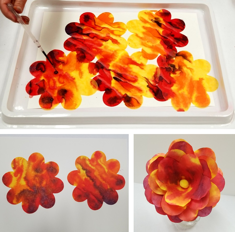 How To Make Color Diffusing Paper Flowers Ss Blog