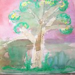 Watercolor Resist Art with Writing Lesson for Students