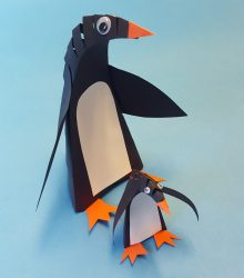 diy penguin paper craft