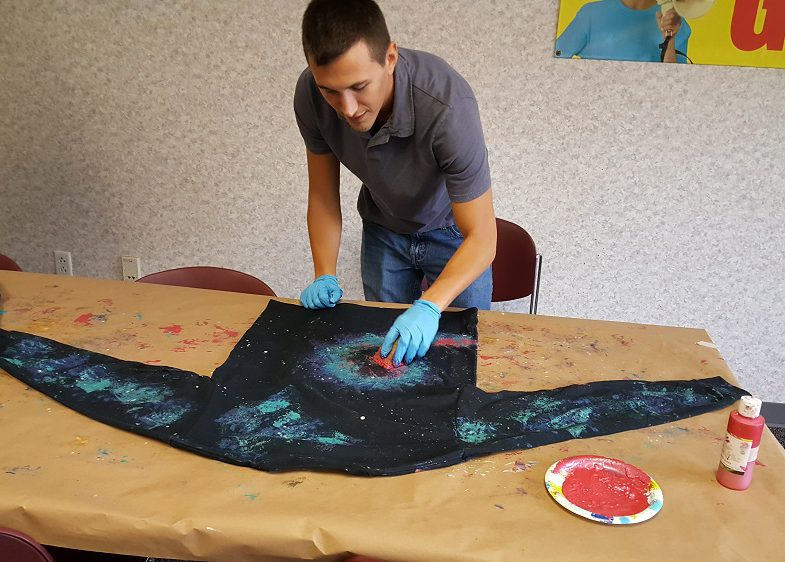 galaxy shirt craft