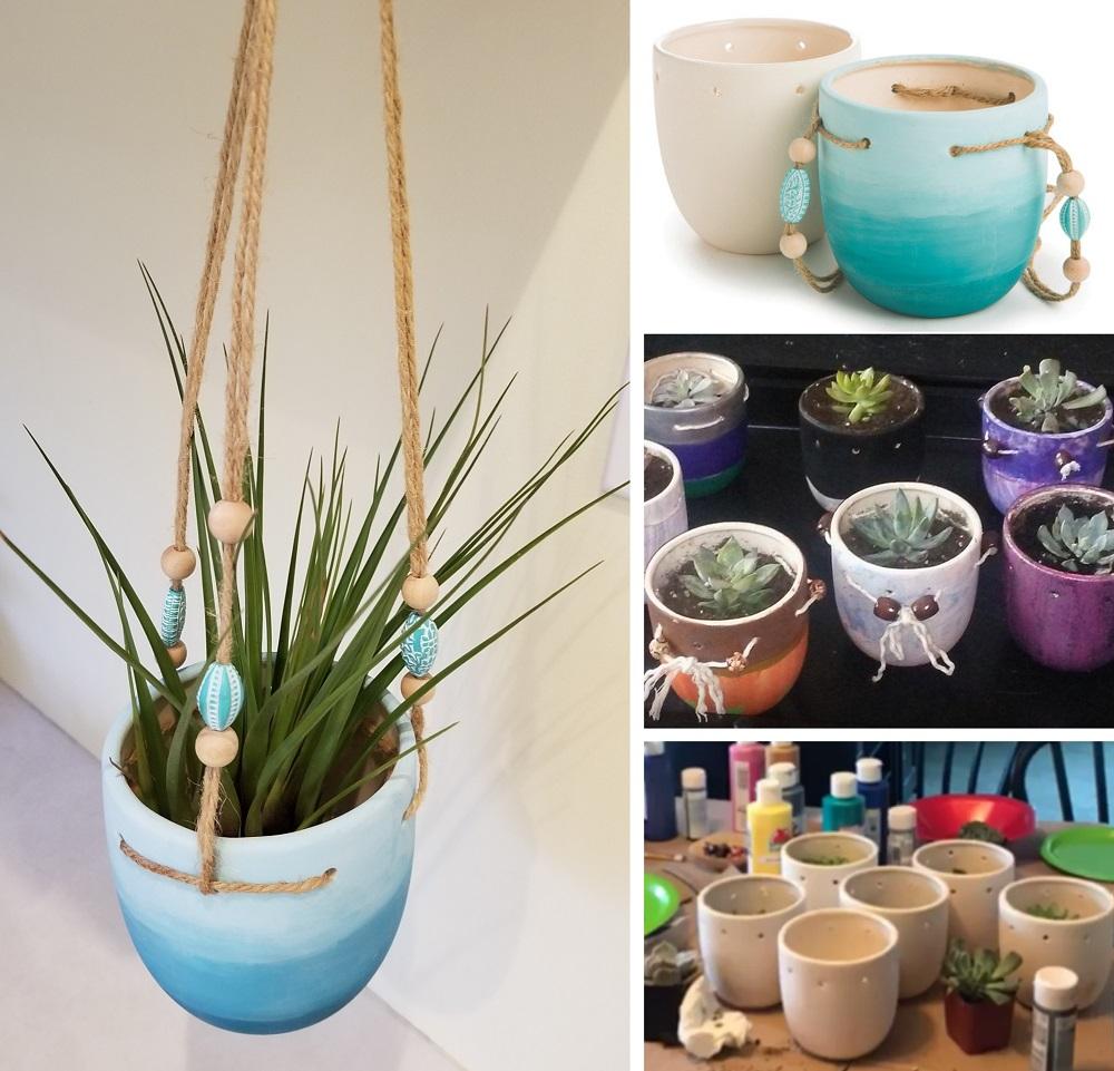 hanging plant ceramic