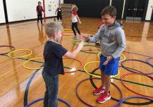 hoop hop showdown rock paper scissors