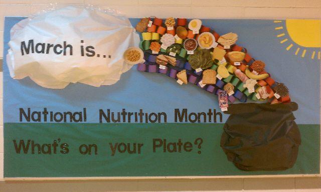 nutrition month bulletin board